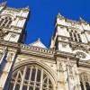 Detalle de la fachada de la abadía de Westminster