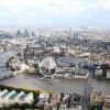 Una vista aérea del London Eye