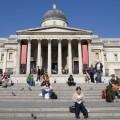 El exterior del museo, en Trafalgar Square @ National Gallery