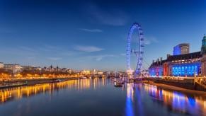 Una sugerente imagen del London Eye, la noria de Londres